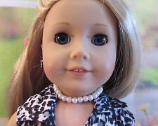 """White Faux Pearl Choker Necklace For American Girl Doll & Kidz N Cats Dolls 18"""""""