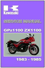 KAWASAKI Workshop Manual ZX1100 GPz1100 1983 1984 and 1985 Service and Repair