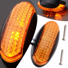 1PC Amber 4LED Side Marker Indicator Light 12V 24V Car Truck Trailer Lorry Light