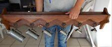 Archelle en bois + 7 mesures (cruches) en étain