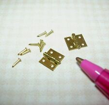 Miniature Houseworks HW43103 Door Hinges (2) for DOLLHOUSE 1:12