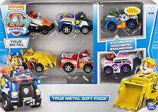 PAW Patrol 6058350 True Metal Geschenkset 6 Fahrzeuge Carbon Fiber Version