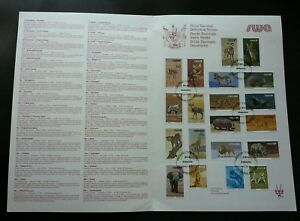 South Africa Definitive Wild Animals 1980 Wildlife FDC stamp on info sheet) Rare