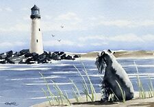 Miniature Schnauzer Watercolor Painting Dog 8 x 10 Art Print by Artist Dj Rogers