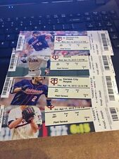 2015 MINNESOTA TWINS PICK YOUR GAME SANO BUXTON 1ST half TICKET STUB MANY DATES