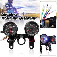 Motorcycle LED Odometer & Tachometer Speedometer Gauge Meter RPM KM/H Universal