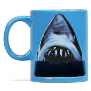 Jaws Ceramic Mug with Cookie Compartment 370ml Boxed Shark from Half Moon Bay