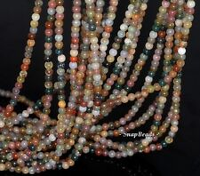 """3MM SANCTUARY INDIAN AGATE GEMSTONE ROUND 3MM LOOSE BEADS 16"""""""