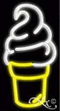BRAND NEW ICE CREAM CONE LOGO 20x11x3 REAL NEON SIGN W/CUSTOM OPTIONS 12247