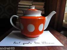 Vintage Porcelain Teapot USSR СССР soviet Tyrnopol polka dot goroshek