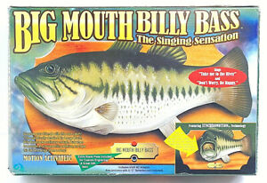 Vintage Big Mouth Billy Bass The Singing Sensation 1998 New Opened Original Box