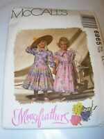 CHILDS UNCUT MCCALLS 6965 SEWING PATTERN FLOWER GIRL DRESS FORMAL SIZE 6 7 8