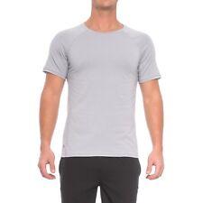 NWT Mens Manduka Yoga Transcend Performance Raglan Shirt in Dawn Grey XL