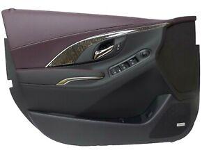 Front Left Driver Side Interior Door Panel Black Sangria 2014-16 Buick LaCrosse