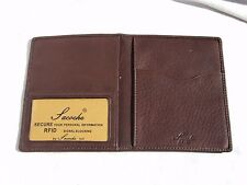 Sacoche 2007 Brandy Leather RFID Passport Wallet