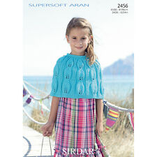 Sirdar Childrens Knitting Pattern - 2456 - Shoulder Wrap - Supersoft Aran