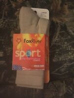 FOX RIVER WOMEN'S WICK DRY QUARTER CREW WALKER SOCK #1578 Khaki Large w-9/12
