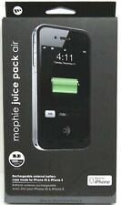 New OEM Mophie 1700mAh Juice Pack Air Black Battery Case For iPhone 4/4s