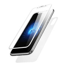 For iPhone X Genuine Baseus Front & Back 3D Tempered Glass Screen Protector 9H+