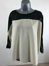 BNWT Womens Vero Moda Cream Black Mesh 3/4 Sleeve Blouse Size XL RRP £22.00
