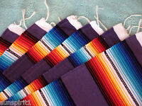 Serape Placemat ONWS19-Violet Southwestern Southwest Mexican Style Fringed Set 6
