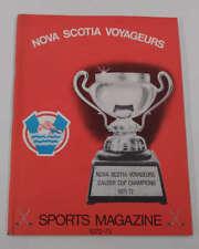 Nova Scota Voyageurs vs Providence Reds Hockey 1972 Program J72052