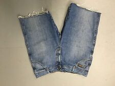 Mens Wrangler Reworked Denim Shorts - W36 - Faded Navy Wash - Great Condition