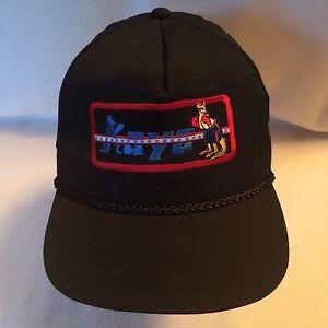 Vintage Kayo Boxing Baseball Cap Rope Hat Snapback Black Kangaroo Boxer