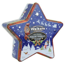 Walkers Pure Butter Mini Shortbread Stars Star Tin 200g Gift Santa Merry Xmas