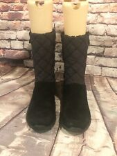 Lands End Women's Winter Boots Black EUC Size 9 B