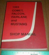 1965  MUSTANG//GT//FAIRLANE//FALCON  SHOP MANUAL