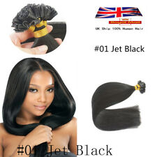 Top 22'' Straight Nail /U Tip 100% Real Remy Human Hair Extension 1g/s UK Stock
