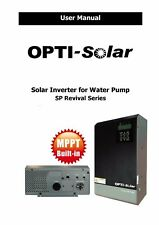 PDF user manual of solar PV inverter for water pump from OPTI SP Revival Series
