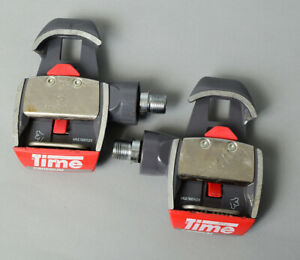 TIME Criterium pedal set. Grey w red. Amazing condition for age. No crashes