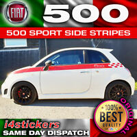 Fiat 500 Sport Side Stripes, Chequered Stripes Decal Kit (correct dealer Spec)