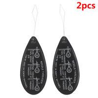 2PCS Aluminum Needle Threader Letter Hand Machine Stitch Insertion Sewing T  Cw