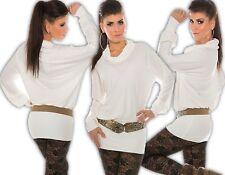 KouCla Maglietta Maniche Lunghe Collo alto oversize vestitino top