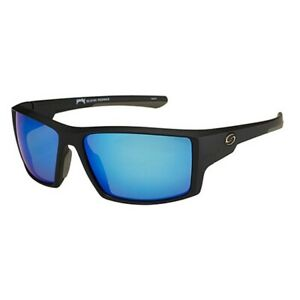 Strike King Lures SG-S1191 Blue Mirror Lens Poloarized Sunglasses Matte Black