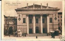 ve 137 1922 BELLUNO Teatro Sociale - viagg FP - Ed. Breveglieri Belluno