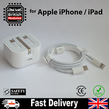 USB C Power Adapter + USB C Cable UK Plug - iPhone 12 / 12 Pro Max Fast Charger