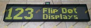 Hanover M018C 96x16 Flip Dot Bus Coach Destination Sign Display Home Office 24V