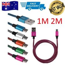 AU SELLER Braided Aluminum Micro USB Data&Sync Charger Cable For i Phone Samsung