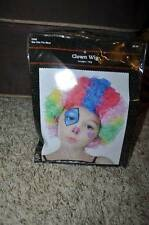 NWT-Kids Multi Color Curly Hair Clown Halloween Wig-OS