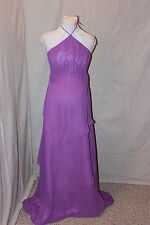 NWT Violet chiffon Maternity formal gown, Bust: 38 modest maids