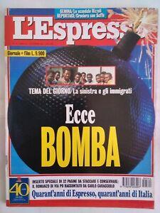 l'espresso 41 1995 fini primicerio dini mancuso craxi hammamet prodi aids bush