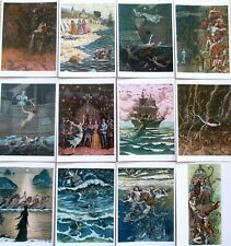 SET -16pcs  Mermaid Hans Christian Andersen fairy tale illustration Postcard-ART