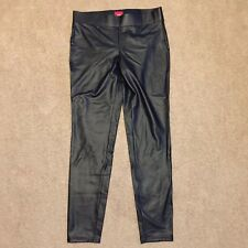 Daytrip Large Faux Leather Black Skinny Pants Rayon Spandex Blend