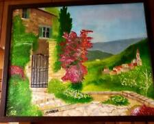 Original-One of Kind-Oil/Canvas Painting-Tuscany- Signed-COA-Listed Art