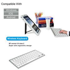 78 Keys Bluetooth Wireless Keyboard for Apple iPad-1 1 2 3 Mac PC Macbook