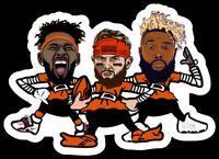"""ELF MAGNET Baker Mayfield, Odell Beckham, Jarvis Cleveland Browns NFL Brownie 4"""""""